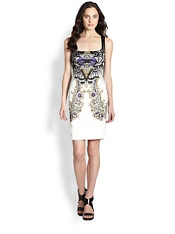 Just Cavalli - Baroque Print Satin Dress