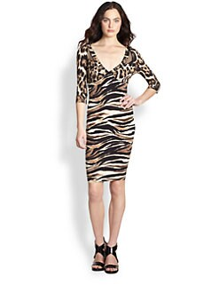 Just Cavalli - Animal Print Jersey Dress