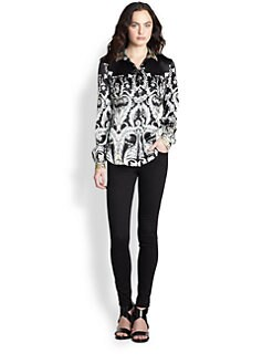 Just Cavalli - Floral Silk Blouse