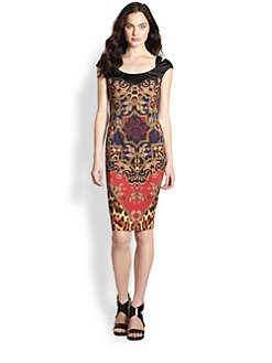Just Cavalli - Tapestry Print Jersey Dress
