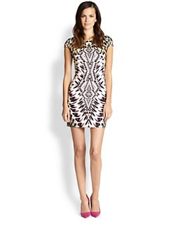 Just Cavalli - Animal-Print Short-Sleeve Dress