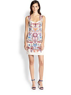 Just Cavalli - Floral-Print Cutout Sleeveless Dress