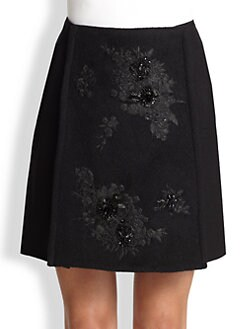 Erdem - Arietta Beaded Wrap Skirt
