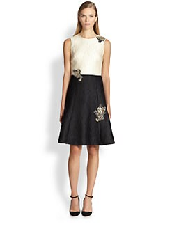 Erdem - Enora Beaded Applique Dress