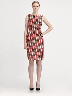 Martin Grant - Silk Vintage Print Dress