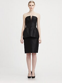 Martin Grant - Strapless Peplum Dress