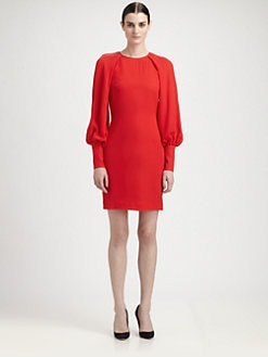 Martin Grant - Long-Sleeve Silk Dress