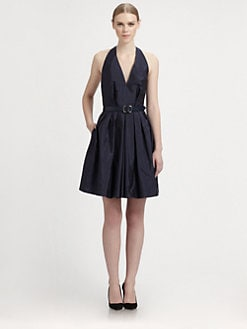 Martin Grant - Belted Silk Halter Dress