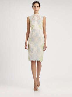 Erdem - Multi-Paneled Lace Dress