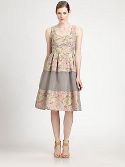 Erdem - Pleated Paneled Dress