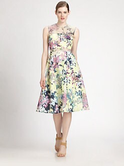 Erdem - Floral Inset Dress