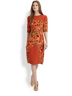 Erdem - Silk Rose Print Dress
