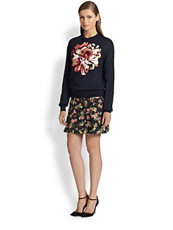 Erdem - Tibbie Embroidered Modal & Wool Sweater