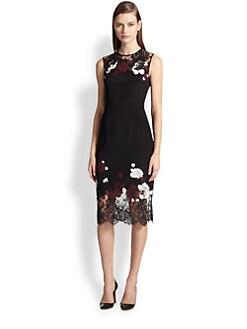 Erdem - Lace Applique Dress