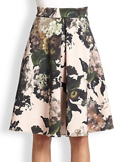 Antonio Marras - Neoprene Floral Skirt