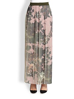 Antonio Marras - Printed Long Pleated Skirt