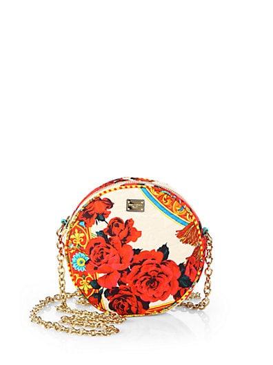 Miss Glam Printed Brocade Crossbody Bag