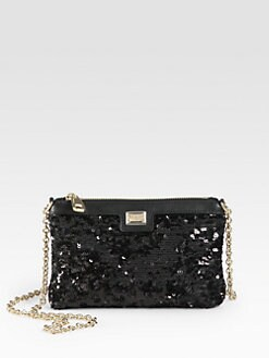 Dolce & Gabbana - Mini Pailletttes Pouch Shoulder Bag
