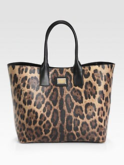 Dolce & Gabbana - Leopard-Print Coated Canvas Large Shopper