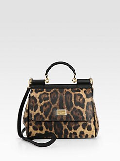 Dolce & Gabbana - Sicily Leopard-Printed Coated Canvas Satchel