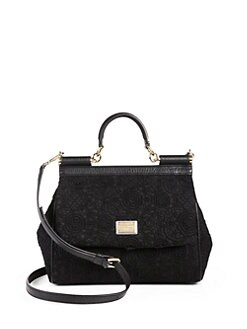 Dolce & Gabbana - Sicily Lace Satchel