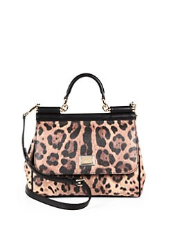 Dolce & Gabbana - Miss Sicily Leopard-Print Satchel