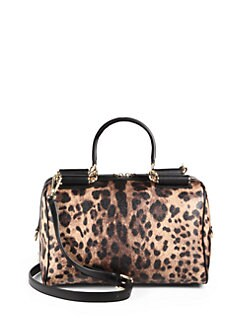 Dolce & Gabbana - Miss Sicily Leopard-Print Boston Bag