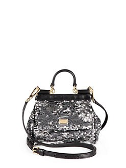 Dolce & Gabbana - Mini Miss Sicily Sequined Satchel