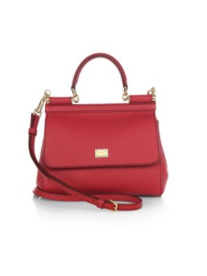 Small Sicily Leather Top Handle Satchel