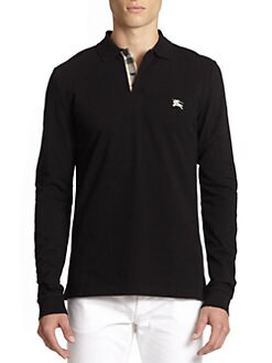 Burberry Brit - Jersey Check Long-Sleeve Polo
