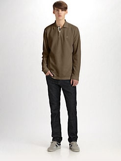 Burberry Brit - Long-Sleeve Polo