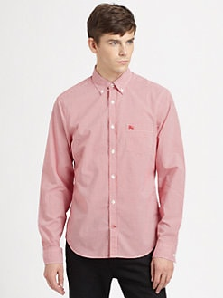 Burberry Brit - Micro Gingham Button-Down Shirt