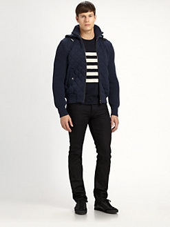 Burberry Brit - Mixed Media Sweater Jacket