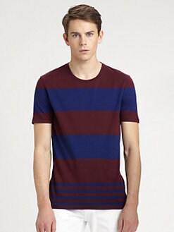 Burberry Brit - Striped Cotton Tee Shirt
