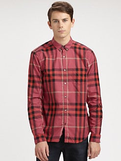 Burberry Brit - Checked Woven Sportshirt