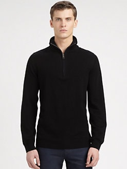 Burberry Brit - Half-Zip Wool Sweater