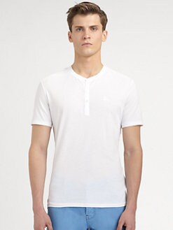 Burberry Brit - Cotton Jersey Henley Tee