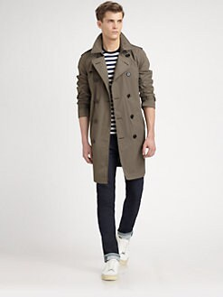 Burberry Brit - Double-Breasted Trenchcoat