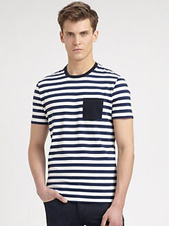 Burberry Brit - Striped Cotton-Jersey Tee