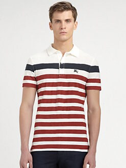Burberry Brit - Striped Cotton-Jersey Polo Shirt