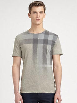 Burberry Brit - Checked Cotton Jersey Tee