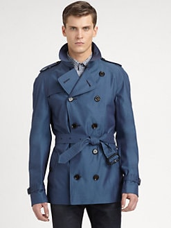 Burberry London - Double-Breasted Cotton Trenchcoat