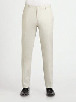 Burberry London - Flat-Front Cotton Trousers