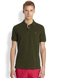Burberry Brit - Check Placket Polo T-Shirt
