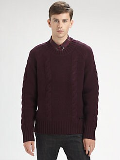 Burberry Brit - Cable-Knit Sweater