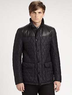 Burberry London - Hadleigh Quilted Leather Patchwork Coat