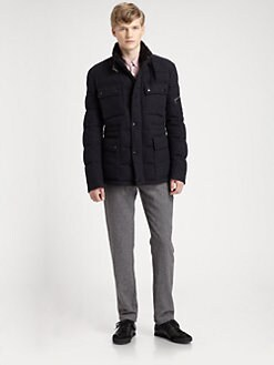 Burberry Brit - Tweed Down Military Field Jacket