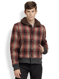Burberry Brit - Shearling-Trimmed Wool-Blend Jacket