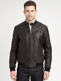 Cole Haan - Washed Lamb Leather Jacket