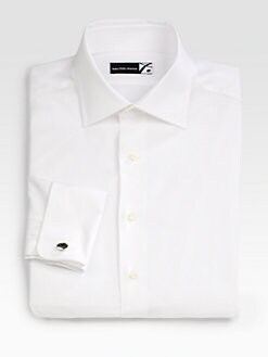 Saks Fifth Avenue Men's Collection - French Cuff Twill Dress Shirt